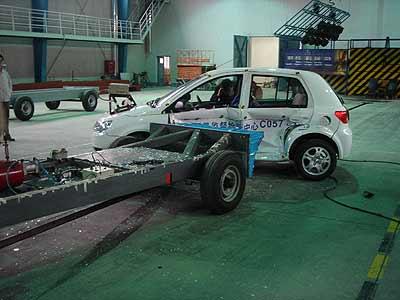 """威志成为第一个完成""""全碰""""试验的车型"""