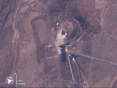 图文:高空拍摄朝鲜洲际导弹发射架