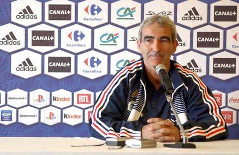 图文:法国队召开新闻发布会 多梅内克回答问题