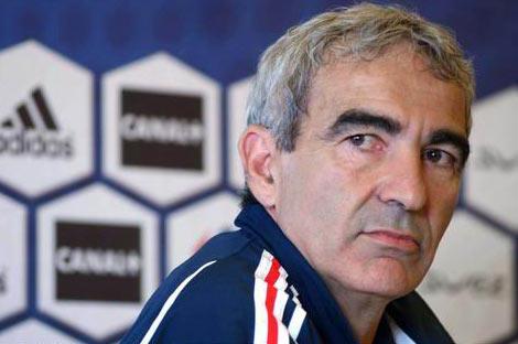 图文:法国队召开新闻发布会 多梅内克出席
