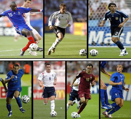 图文:漫画世界杯 入选世界杯全明星的七位后卫