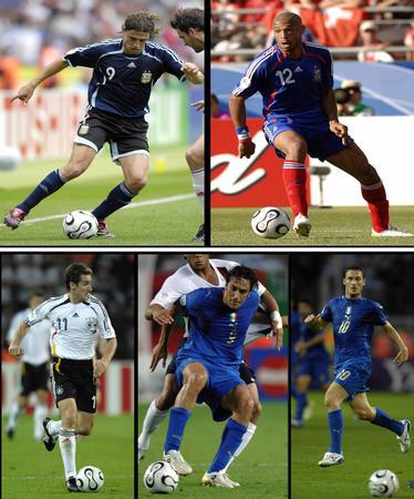 图文:漫画世界杯 入选世界杯全明星的五位前锋