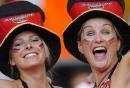 图文:德国VS葡萄牙 德国球迷兴高采烈