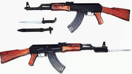 62mm突击步枪ak—47式7.62mm突击步枪是前苏联著名