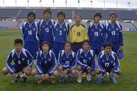 图文:女足亚洲杯泰国2-1缅甸 泰国女足首发阵容