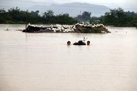 平遇特大洪灾 50万人转移11人死亡