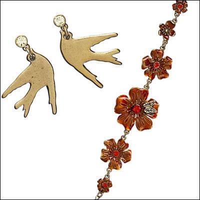 饰品:Pilgrim鸟语花香的美饰