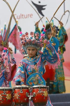 山西民间艺术团来京 助兴奥林匹克文化节