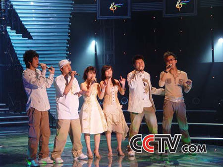 青歌赛组合演唱决赛选手:蝌蚪合唱团
