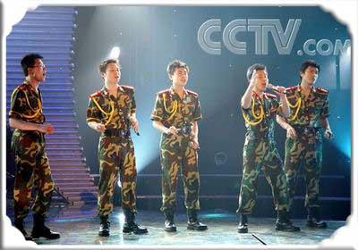 青歌赛组合演唱决赛选手:士兵兄弟五重唱