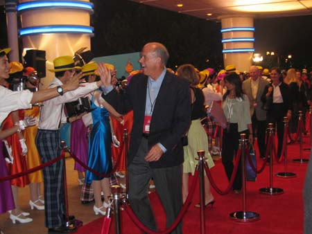 香港迪士尼乐园红地毯欢迎仪式