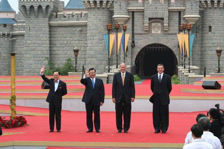 曾庆红及曾荫权出席香港迪士尼乐园开幕典礼