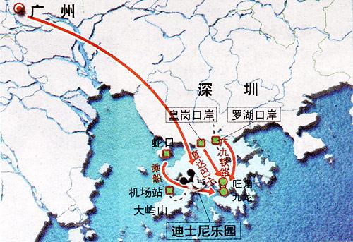 广州游迪士尼,哪条路更快捷?