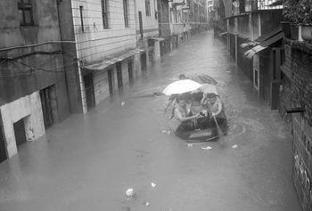 """台风""""格美""""再袭湖南灾区 数十万人转移(图)"""