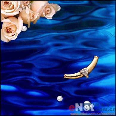 用Photoshop教你绘制精美珍珠饰品