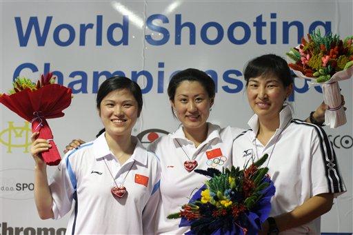 射击世锦赛女子25米手枪:中国双姝发威摘金揽银