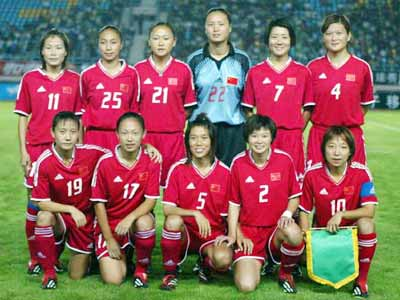 图文资料:中国女足集体合影