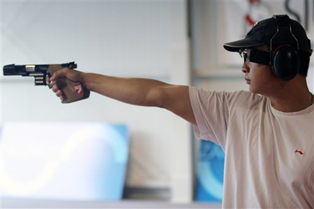 图文:射击世锦赛 张鹏辉获25米手枪速射金牌