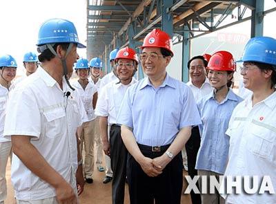 胡锦涛唐山考察:努力推动经济社会又快又好发展