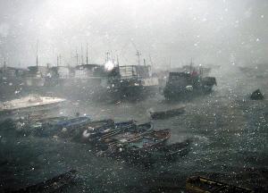 派比安最大阵风达14级 登陆致4人海上失踪(图)