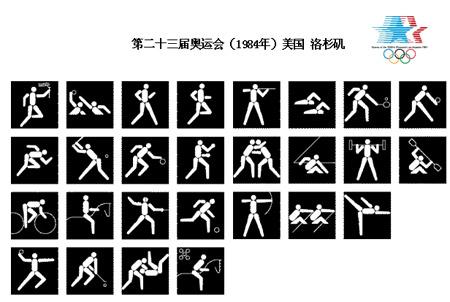 历届奥运会体育图标 第23届洛杉矶夏季奥运会