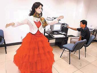 首台美女机器人登场 能当主持人会说四川话图 搜狐