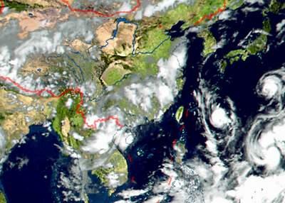 """第8号热带风暴""""桑美""""继续向西北方向移动(图)"""