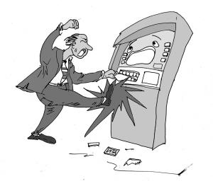 老外被吞卡怒拆提款机 银行损失1.4万元 (图)图片