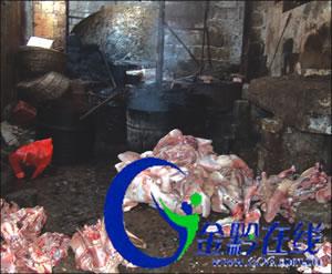 贵州一小巷暗藏加工点 每日上市千斤死猪肉(图)