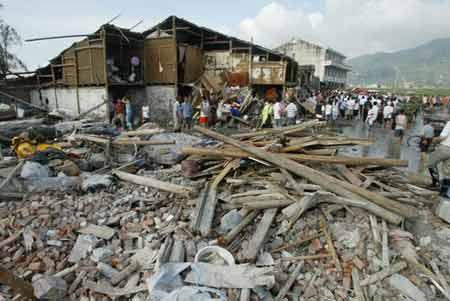 图文:台风过后的苍南金乡镇