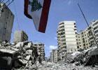 空袭后贝鲁特废墟一片