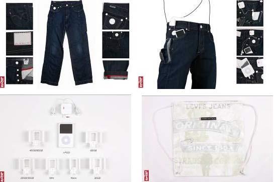 Levi's 全球第一条兼容iPod功能的牛仔裤(图)