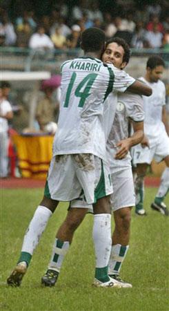 图文:沙特3:0印度 卡赫塔尼上演帽子戏法
