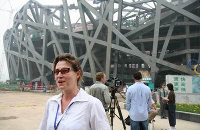 图文:奥运倒计时两周年 记者讲述观