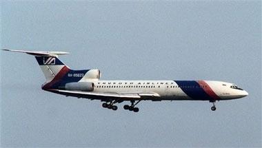 图文:俄罗斯图-154客机飞往圣彼得堡途中坠毁