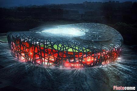 图文:历届奥运会主体育场 北京国家体育场