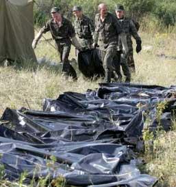 俄官方宣布坠机现场已找到130具遇难者尸体