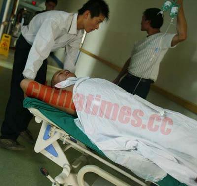 醉酒业主枪伤保安 医院从患者身上取出弯曲子弹