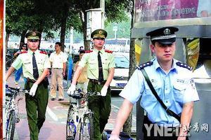 北京武警首次参与巡逻 专盯高发案区犯罪(图)