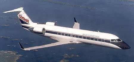 图文:美国坠毁同种型号crj-100客机飞行途中