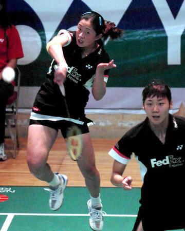 香港羽球公开赛开战 张亚雯 魏轶力回球