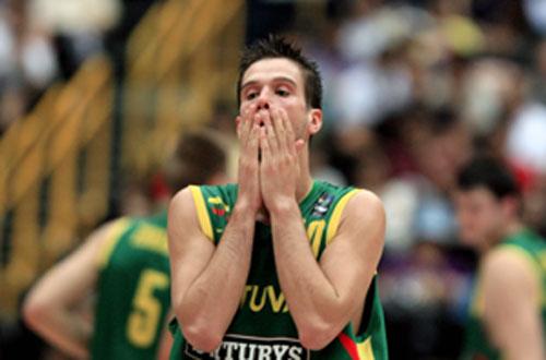 世锦赛图:西班牙VS立陶宛 立陶宛落败遗憾出局