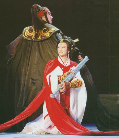 图:上海越剧院新编历史故事剧《虞美人》