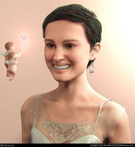 超真实的3d渲染人物头像
