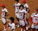 图文:女垒世锦赛美国队获冠军 日本队员比赛后