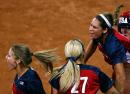 图文:女垒世锦赛决赛美国胜日本 美国庆祝得分