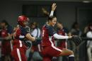图文:女垒世锦赛决赛美国胜日本 美国庆祝胜利