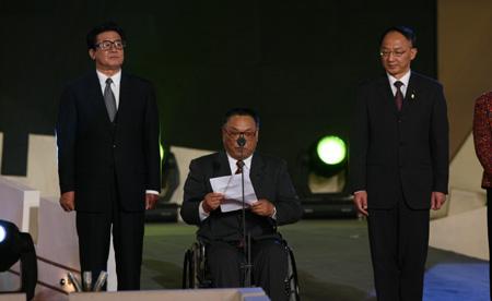 邓朴方致辞残奥会吉祥物发布:作用重大带来福音