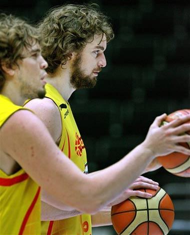 评男篮世锦赛四大兄弟:加索尔组合北京会更强