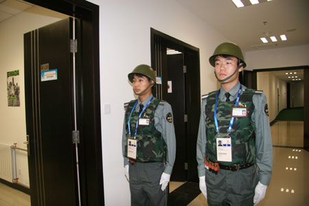 图文:垒联称赞兴奋剂工作 安保人员忠于职守